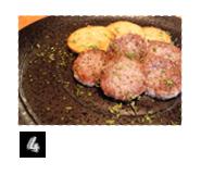 自家製ソーセージとジャガイモのアッラパデッラ
